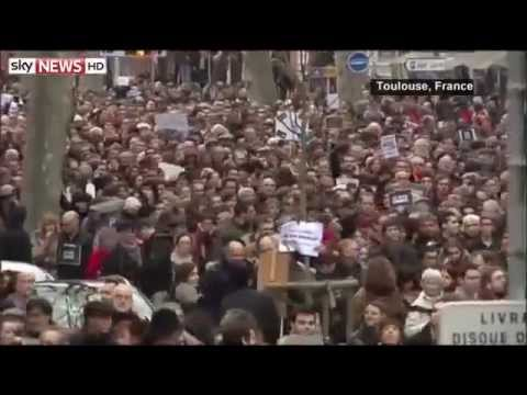 France Protest Against Terrorism 700+ Thousand January 2015 Breaking News
