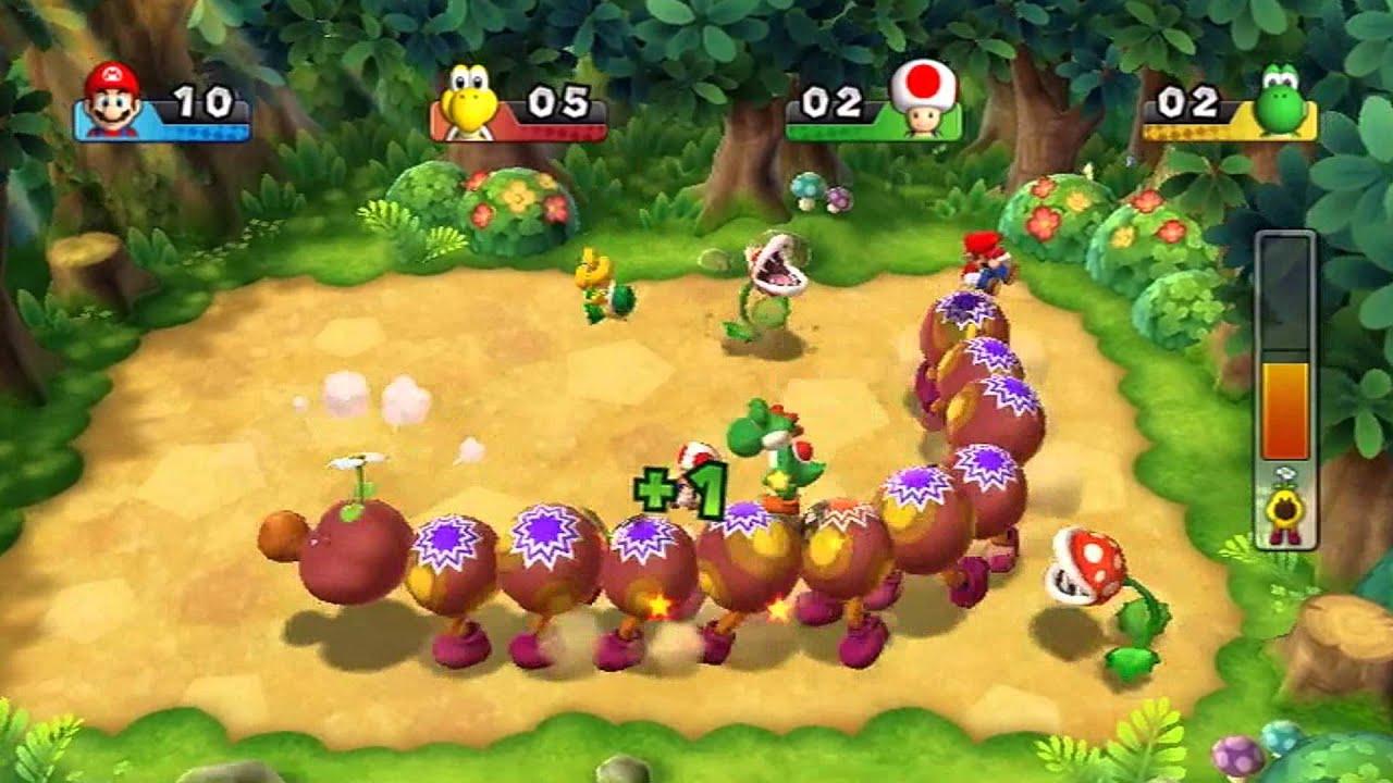 Boss Gameplay Mario Party 9 Wiggler Bounce Youtube
