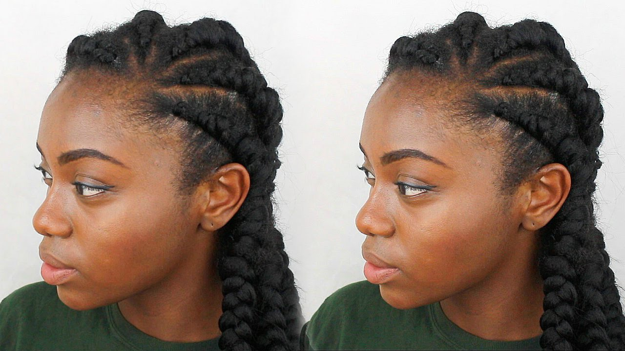 HOW TO: Ghana Braids (Natural Hair) - YouTube