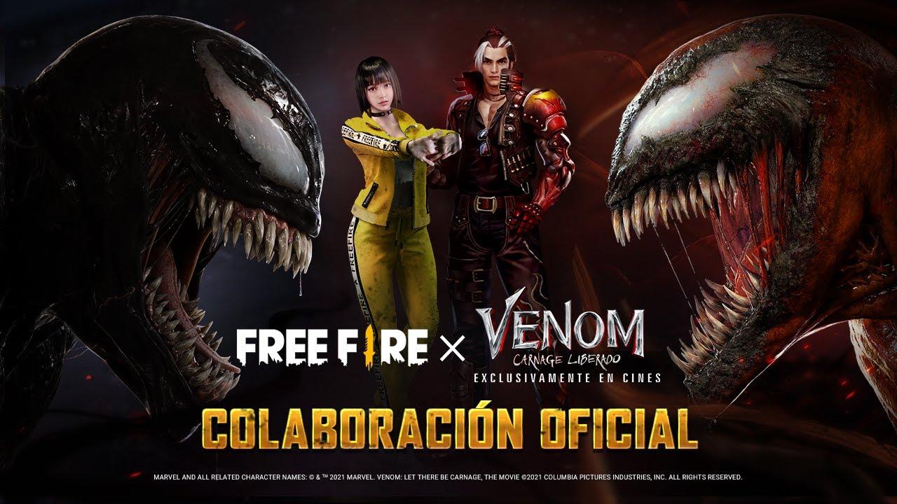 ¡COLABORACIÓN OFICIAL: VENOM CARNAGE LIBERADO x FREE FIRE! 🔥   Garena Free Fire
