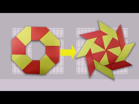 origami ninja star 8 point instructions