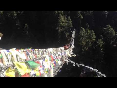 amazing bridge way to mt Everest base camp trek before Namche