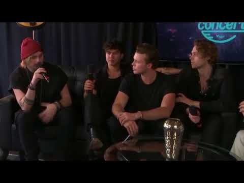 5 Seconds of Summer interview backstage at Kiss 108 Concert