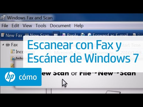 Escanear con Fax y Escáner de Windows 7 | HP Computers | HP