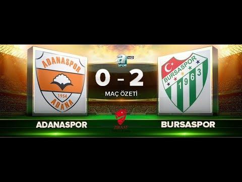 Adanaspor 0-2 Bursaspor | Maç özeti HD | a spor | 29.11.2017