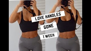 Video Get RID of LOVE HANDLES WORKOUT (BURN BELLY FAT FAST) download MP3, 3GP, MP4, WEBM, AVI, FLV Juli 2018