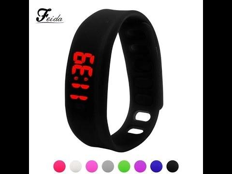 Спортивные цифровые светодиодные (LED) часы-браслет. Aliexpress .