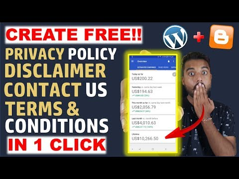 How To Create About Us, Contact Us, Privacy Policy Page for Blogger/Wordpress In 2020 [Hindi]