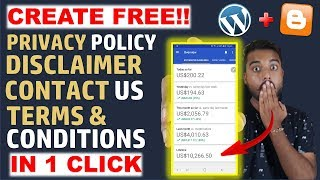 How to Create Privacy Policy, Terms & Conditions, Disclaimer, Contact Us Page for Blogger/Website
