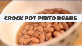 How To Make Crock Pot Pinto Beans