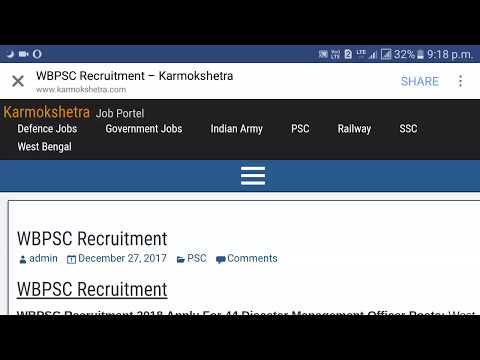 44 Posts, Disaster Management, PSC Recruitment 2018, Government job in west bengal