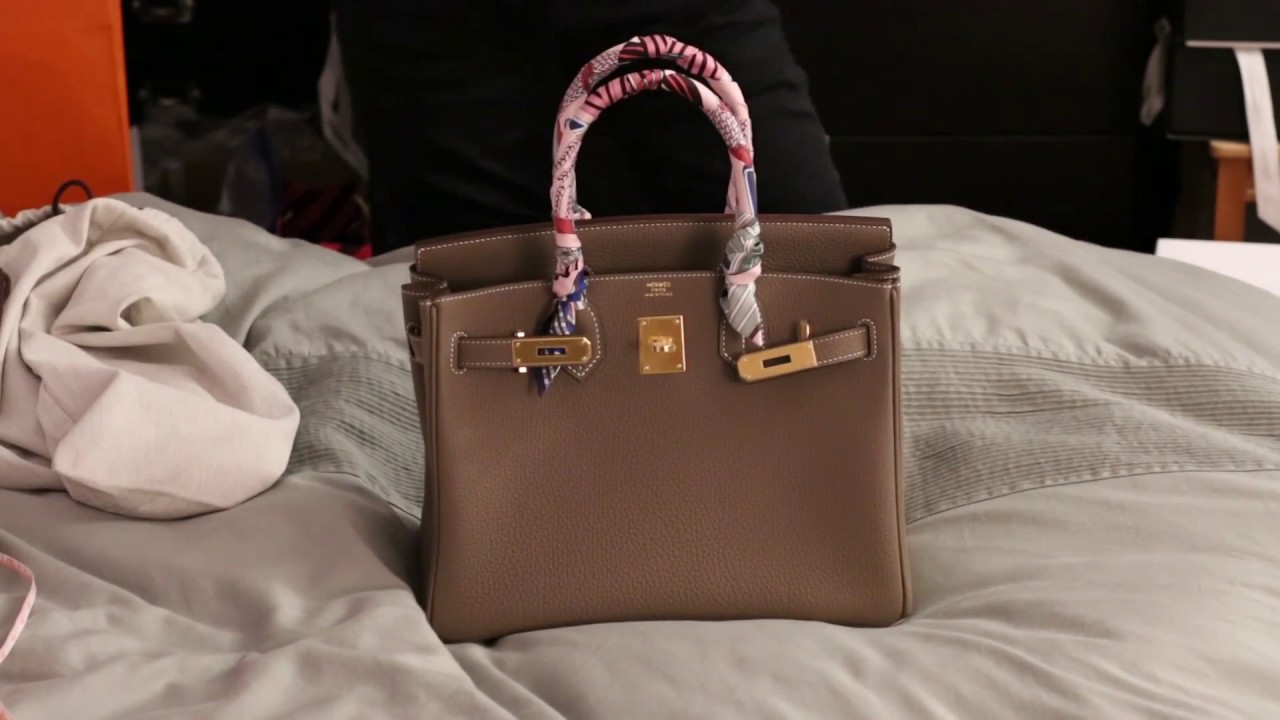 d8f2cdc9fb78 Unboxing my new Hermes Birkin 30!! - YouTube