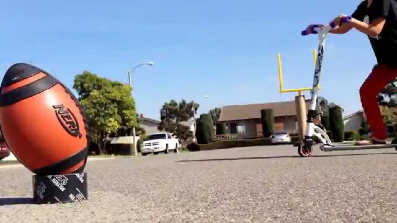 awesome football goal post youtube