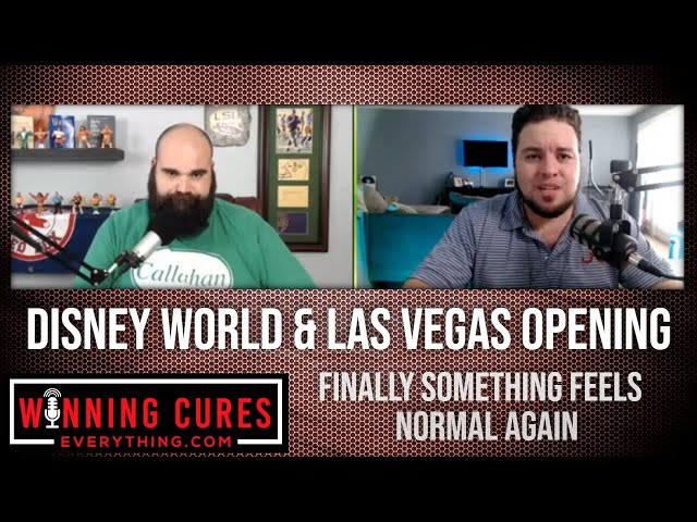 Disney World & Las Vegas are opening!  Finally something feels normal!