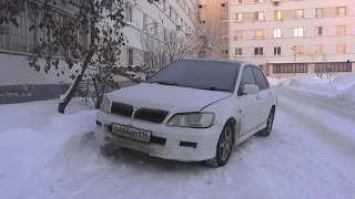 Cold Winter Start Up  -23C Mitsubishi Lancer Cedia 1.5 GDI