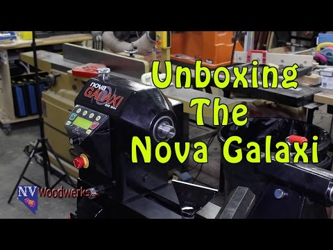 Nova Galaxi 1644 Lathe Unboxing and Assembly