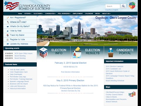 BOE Website and Online Tools - Cuyahoga County Board of