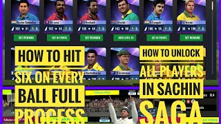 How to Hit six in Sachin saga and unlock all players .ONLY ONE TRICK MUST WATCH