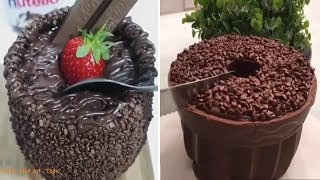 How To Make An Easy And Delicious Chocolate Cake  - The Most Satisfying Cakes Compilation! 🍰🍰👏👏