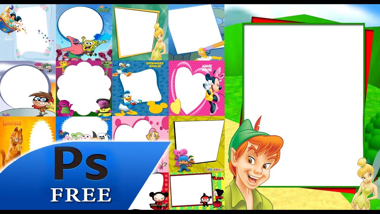 90 bordes infantiles tutorial photoshop youtube - Perchas infantiles de pared ...