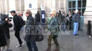gwen Stefani and No Doubt band arriving in Paris