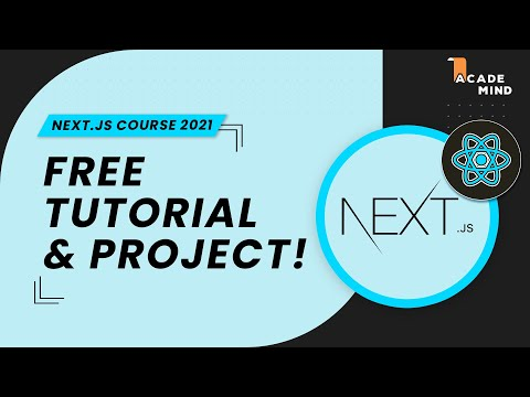 Next.js Crash Course For Beginners 2021 - Learn Nextjs From Scratch In This 100% Free Tutorial!