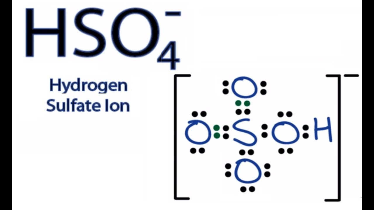 hso4 lewis structure how to draw the lewis structure for the bisulfate ion [ 1280 x 720 Pixel ]