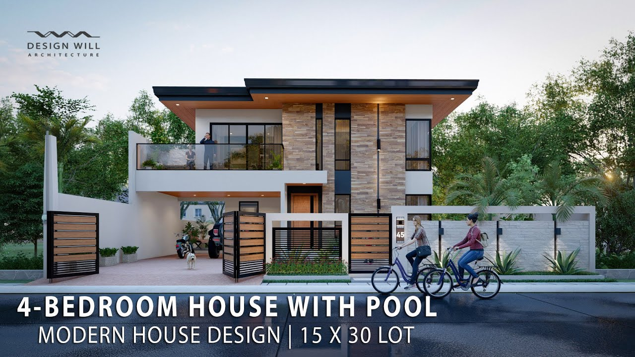 10 Bedroom House with Pool in 10x10m Lot  Modern House Design