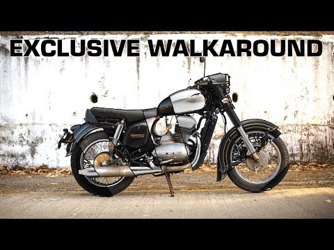 Jawa walkaround | Nostalgic Details and Sound Revealed | ZigWheels.com
