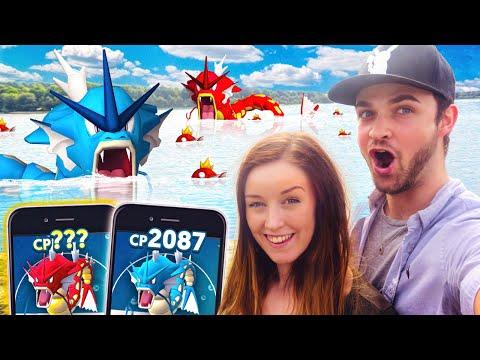 Pokemon GO - DOUBLE GYARADOS EVOLUTION! (100% IV PERFECT)