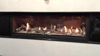 Lhd62 Gas Fireplace Napoleon Beach Driftwood Log Set W/ Fluted Panels Direct Vent
