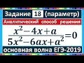 Аналитический способ решения задания 18 ЕГЭ (профиль) #50