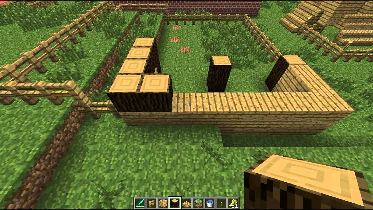 Minecraft Tutorials Minecraft Tutorial 7 How to Build a Sheep Farm HD