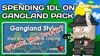 HOW TO GET RICH WITH 1 DL [EXPLAINED GANGLAND PACK PROFITS] - Growtopia