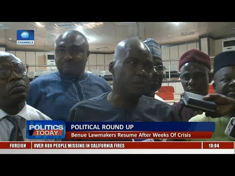 Benue Lawmakers Resume After Weeks Of Crisis | Politics Today |