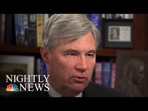 Sen. Sheldon Whitehouse Has Made More Than 200 Speeches About Climate Change   NBC Nightly News