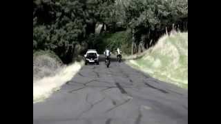 Police Mustang vs 2 Gohst Rider