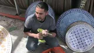 Moroccan Mosaic Ceramic Table
