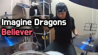 Imagine Dragons - Believer (Drum Cover) By Boogie Drum