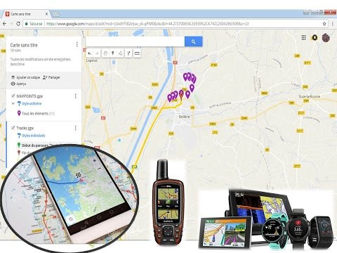 how to add gps file to google maps youtube
