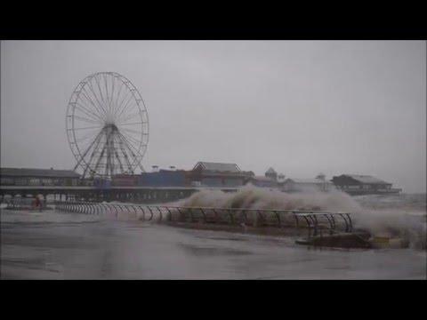 Storm Jonas remnants batter the UK coast