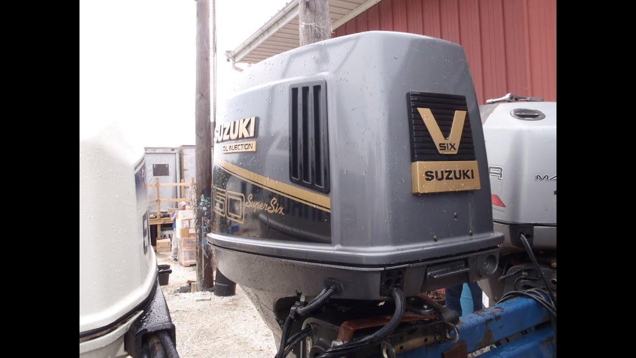 6m3320 used 1992 suzuki dt150 150hp 2-stroke outboard boat motor