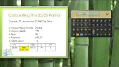 Calculating Note Investments Using A Partial