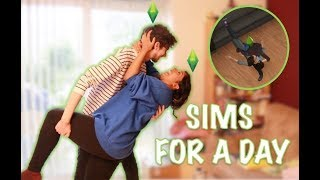 Boyfriend & Girlfriend: Living Like Sims For 24 Hours Challenge