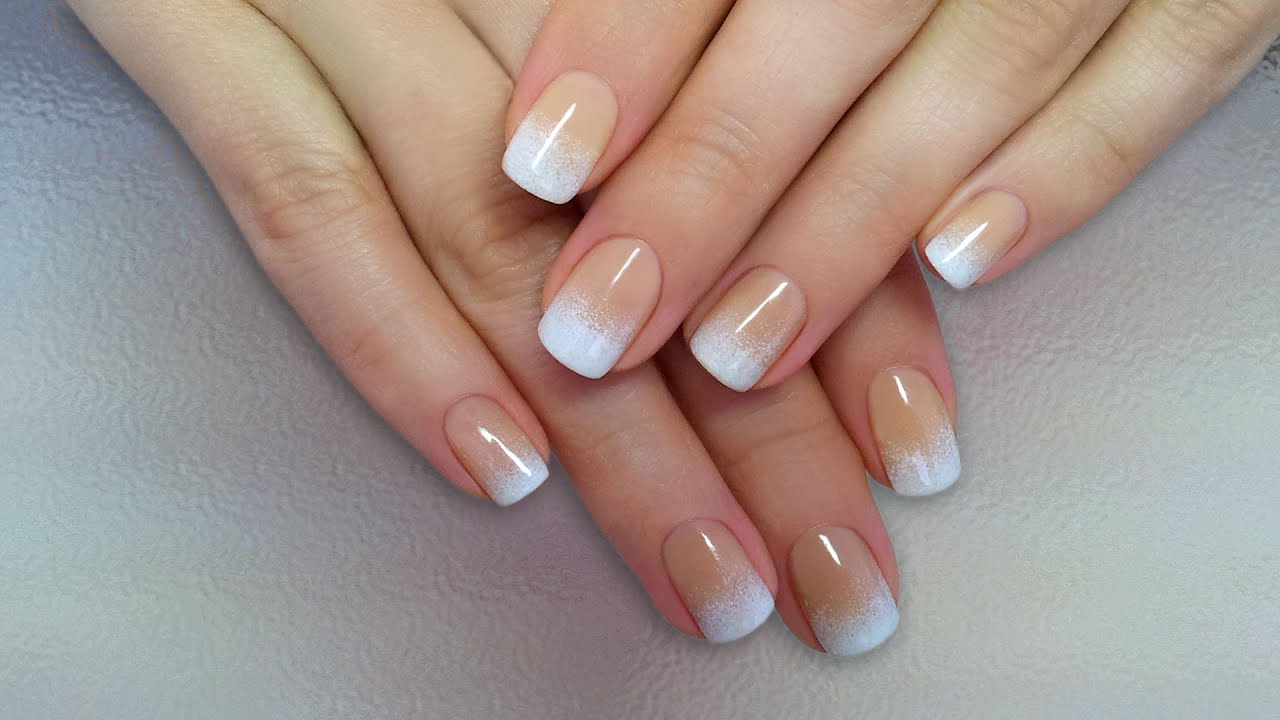 Дизайн ногтей гель-лак shellac - Градиент на ногтях (видео ...