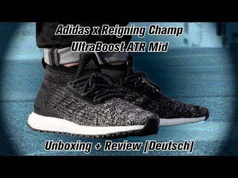 official photos 3c198 9739d Adidas x Reigning Champ ATR Mid UltraBoost Unboxing / Review [ DEUTSCH ]