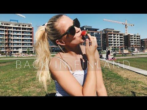Vlog 8 BACK IN FINLAND - summer break at home