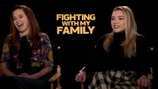 "CHAT WITH THE STARS:  Florence Pugh, Lena Heady, ""Fighting With My Family"""