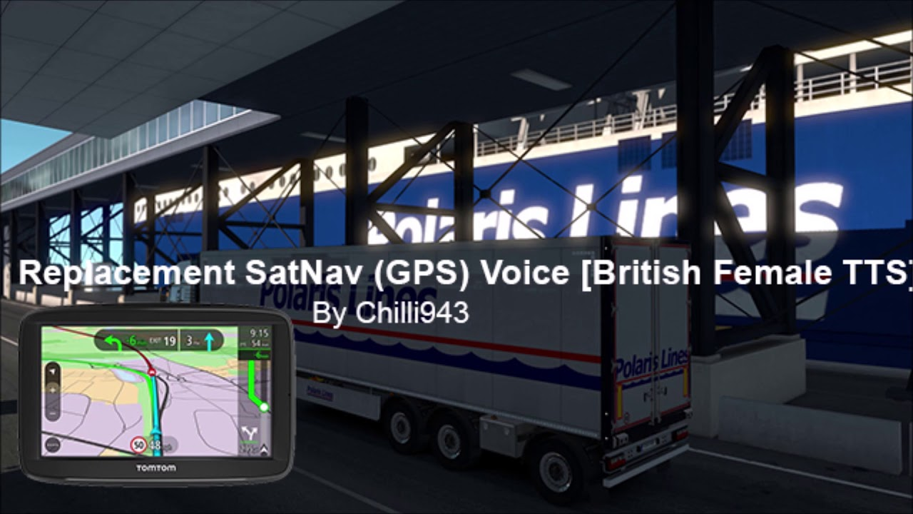 [ETS2] ALL SOUNDS | GPS/Navigation (SatNav) Voice Mod Replacement for  English Female Voiceover