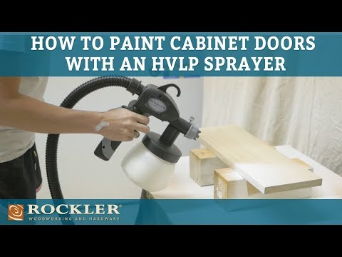How to Paint Cabinet Doors Using an HVLP Sprayer | Rogue Engineer Project